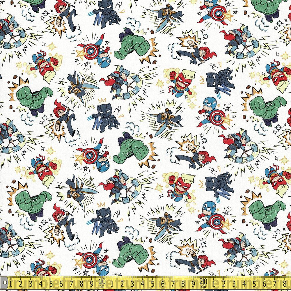 Springs Creative - Marvel Cartoon Kapow - Multi Sewing and Dressmaking Fabric