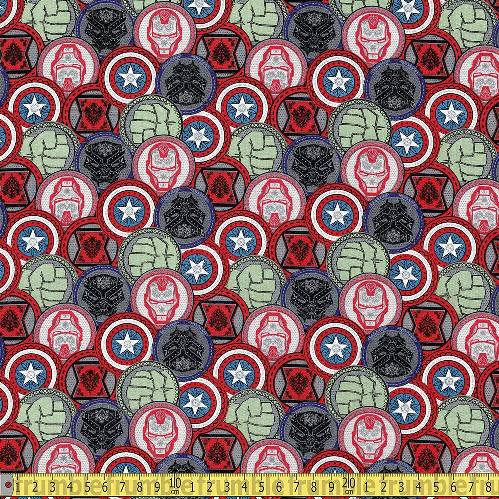 Springs Creative - Marvel Coins - Multi Sewing and Dressmaking Fabric