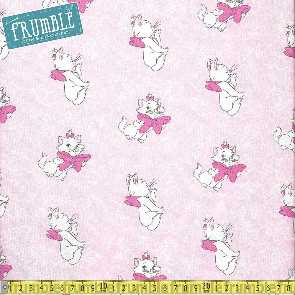 Aristocats Marie Toss Pink Fabric by Springs Creative