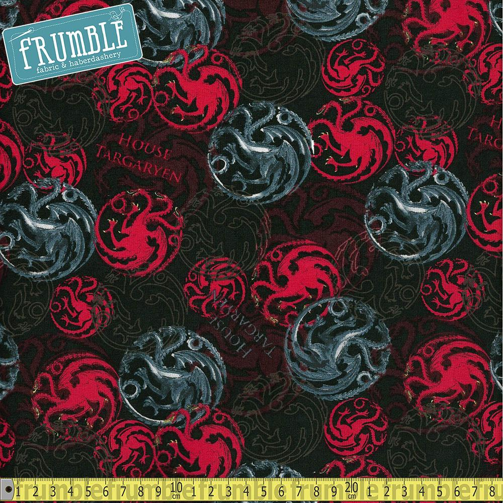 Game Of Thrones House Targaryen - Frumble Fabrics