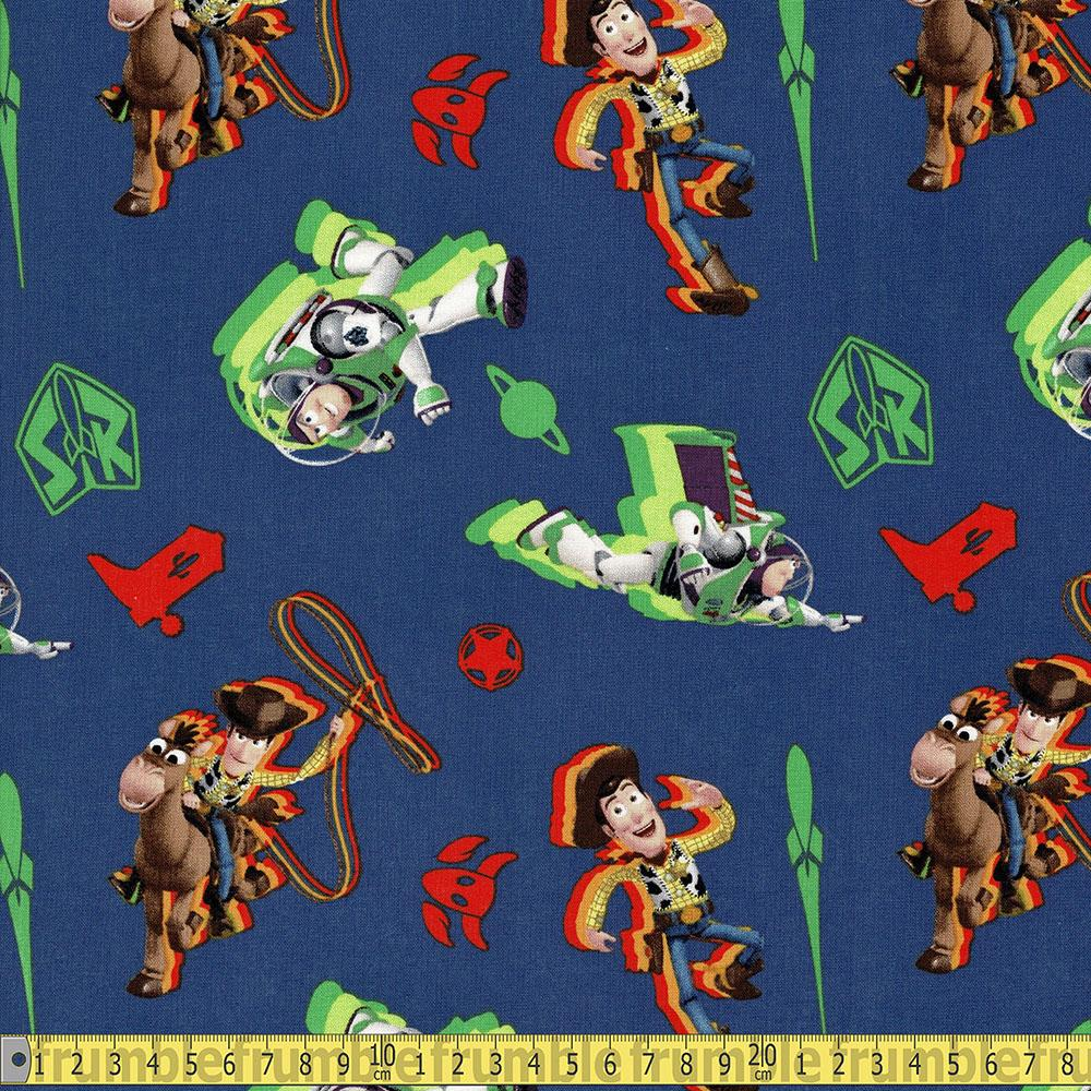 Toy Story 4 Buzz and Woody Toss Navy Fabric by Springs Creative