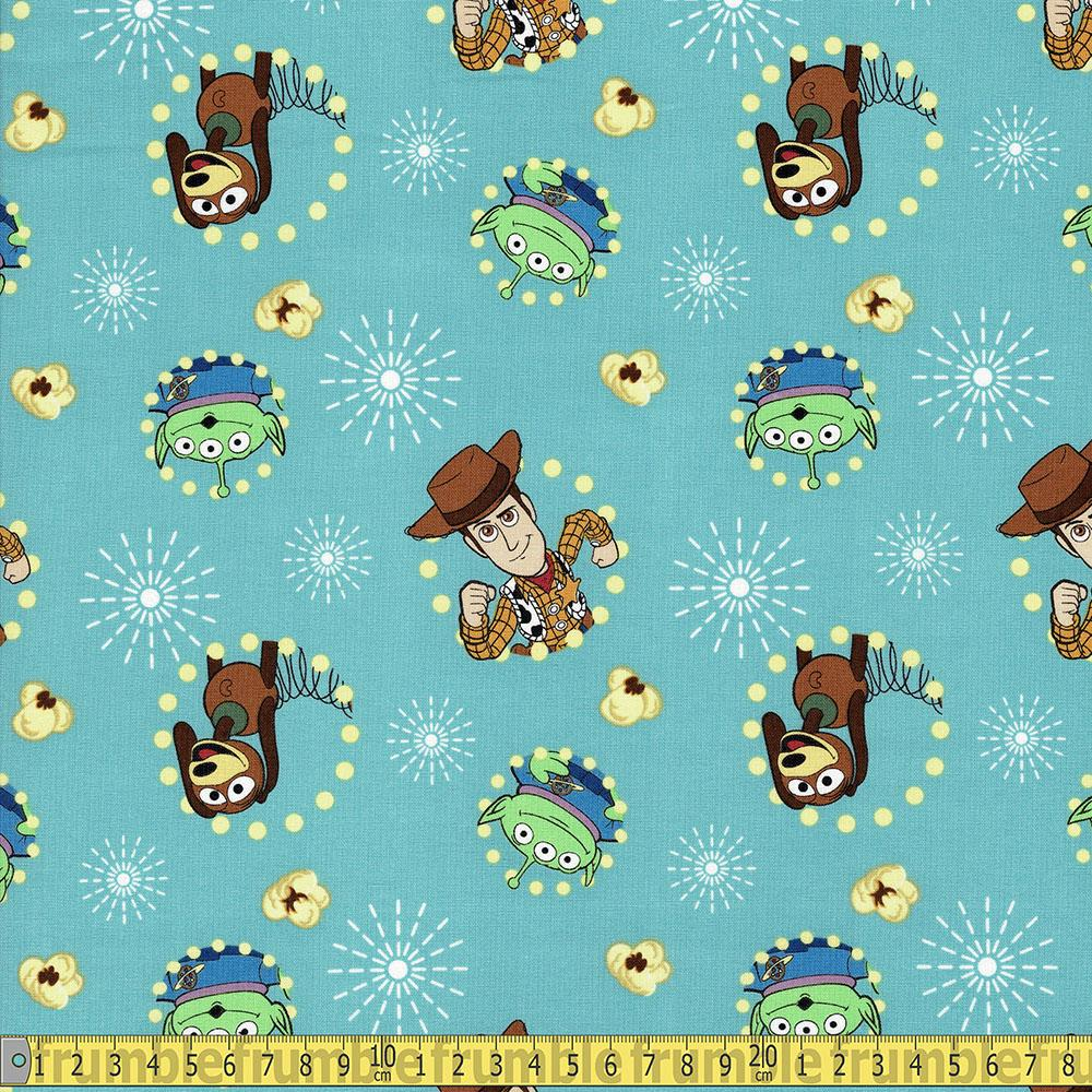 Toy Story 4 Friends Toss Teal - Frumble Fabrics