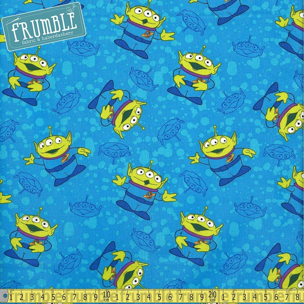 Toy Story Alien Toss Blue Fabric by Springs Creative
