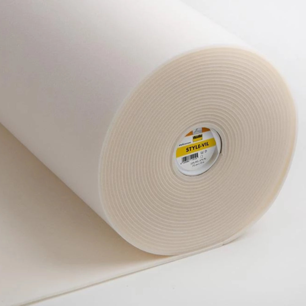 720 Style-Vil White Smooth Foamed Sew In Interlining (Per Metre) - Frumble Fabrics