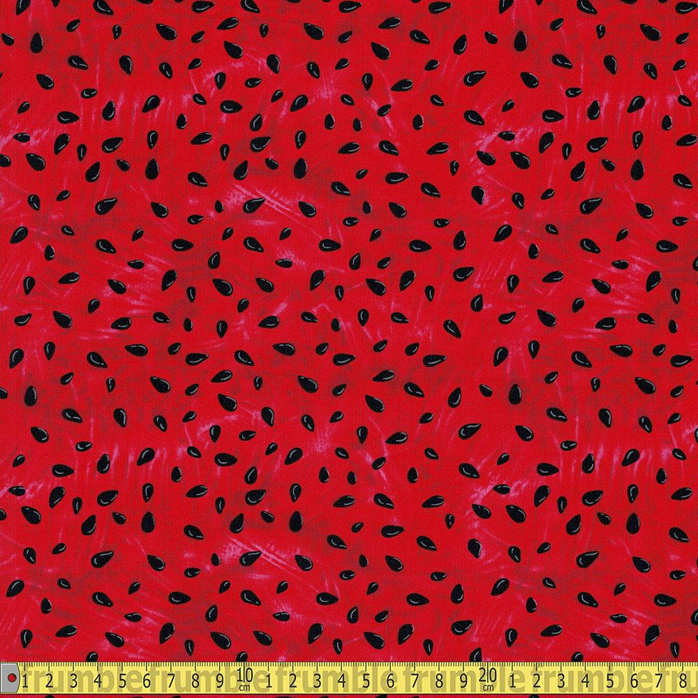 Another Watermelon Pips Red Fabric by Timeless Treasures