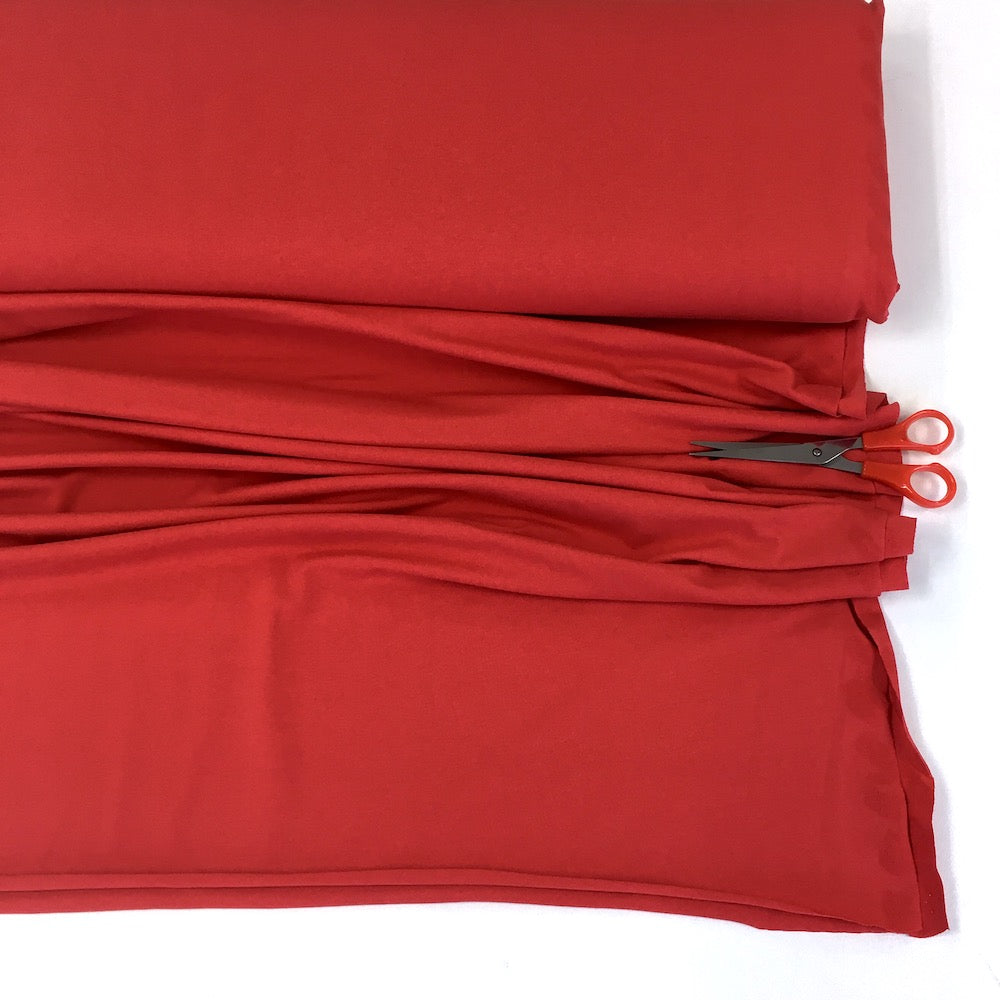 Organic Jersey Solids - GOTS Cotton Knit - Tomato Red