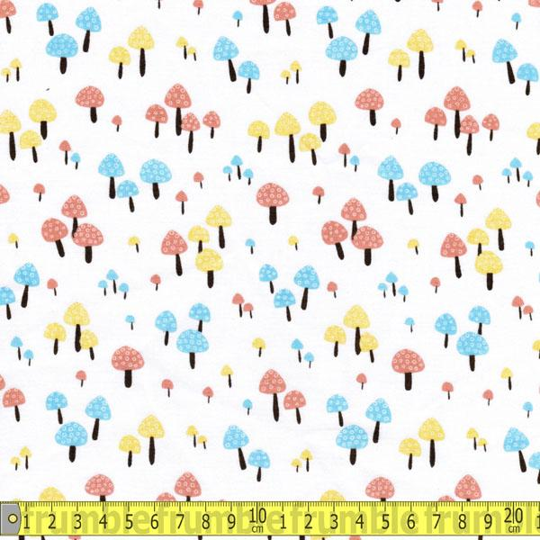 Magic Mushrooms White Fabric by Timeless Treasures