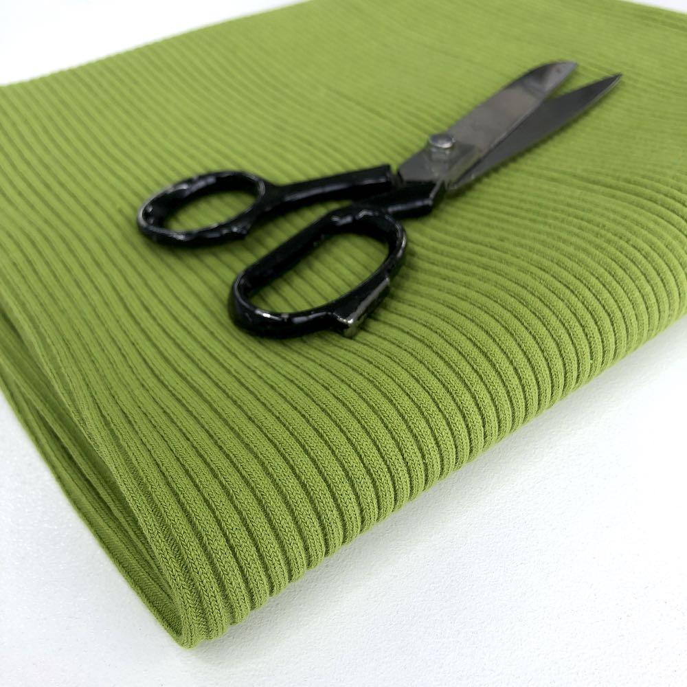 Chunky Cuff Rib Cotton Ribbing Tube Lime Green Fabric by Various