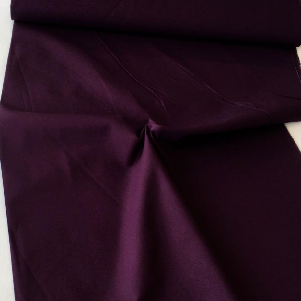 Cotton Canvas Solids Aubergine Purple Fabric by Various