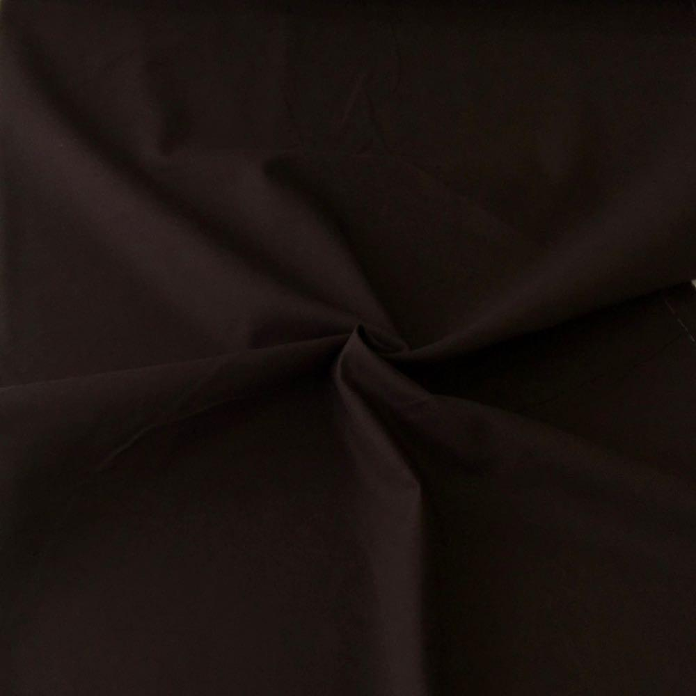 Cotton Canvas Solids Dark Brown Fabric by Various