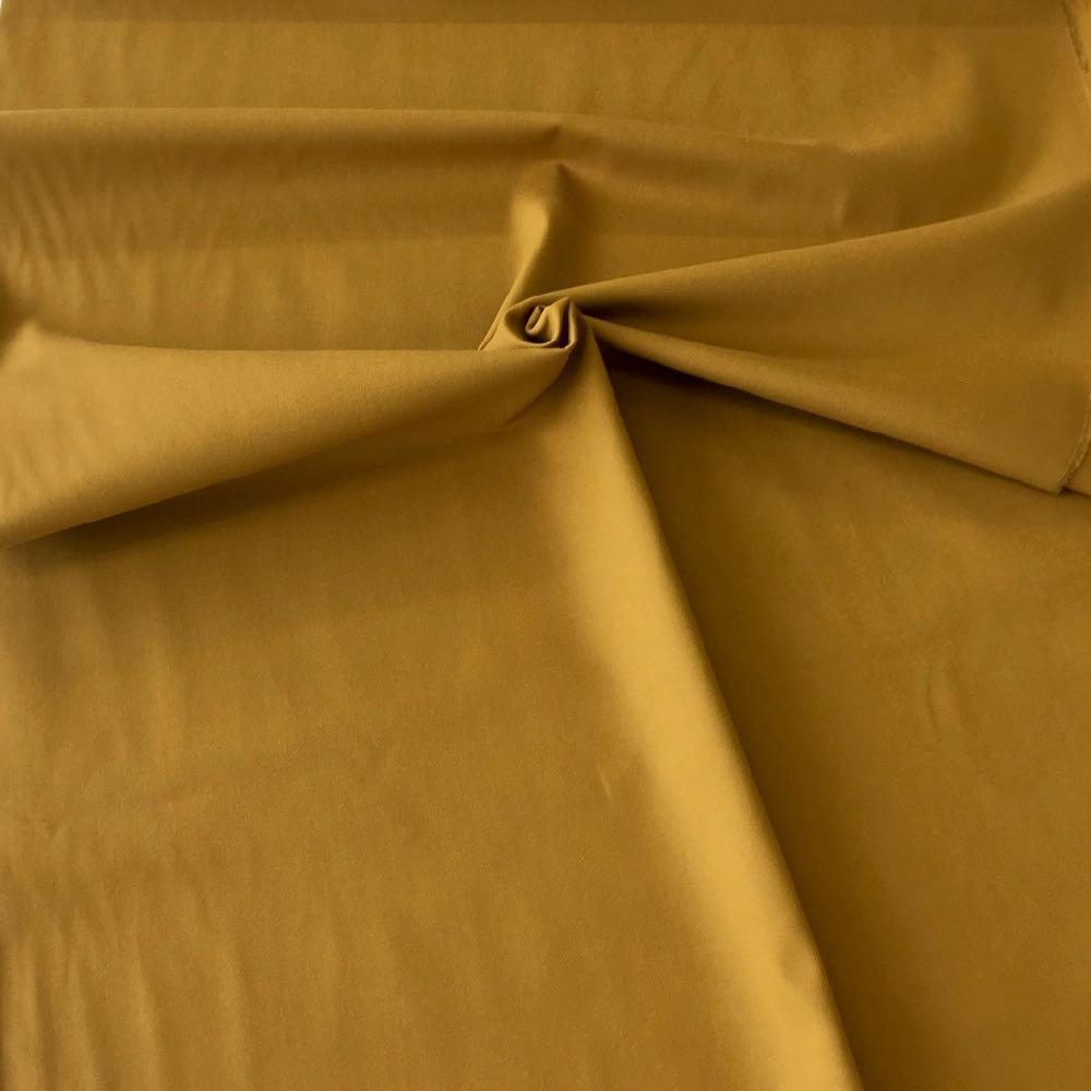Cotton Canvas Solids Mustard Fabric by Various