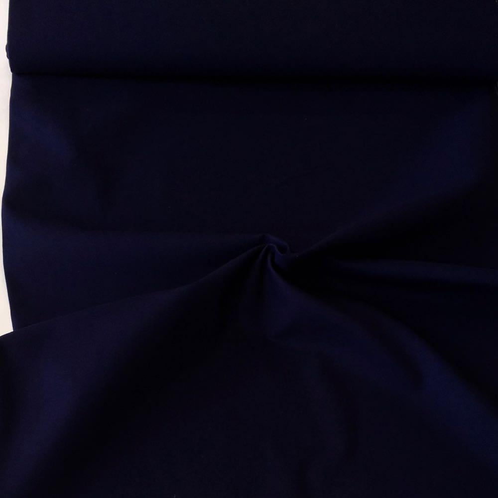 Cotton Canvas Solids Navy Blue Fabric by Various