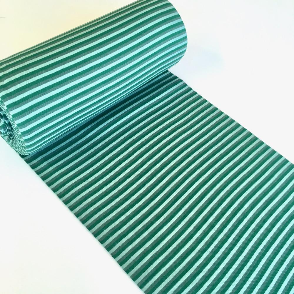 Old Green Stripe Cotton Ribbing Tube Fabric by Various