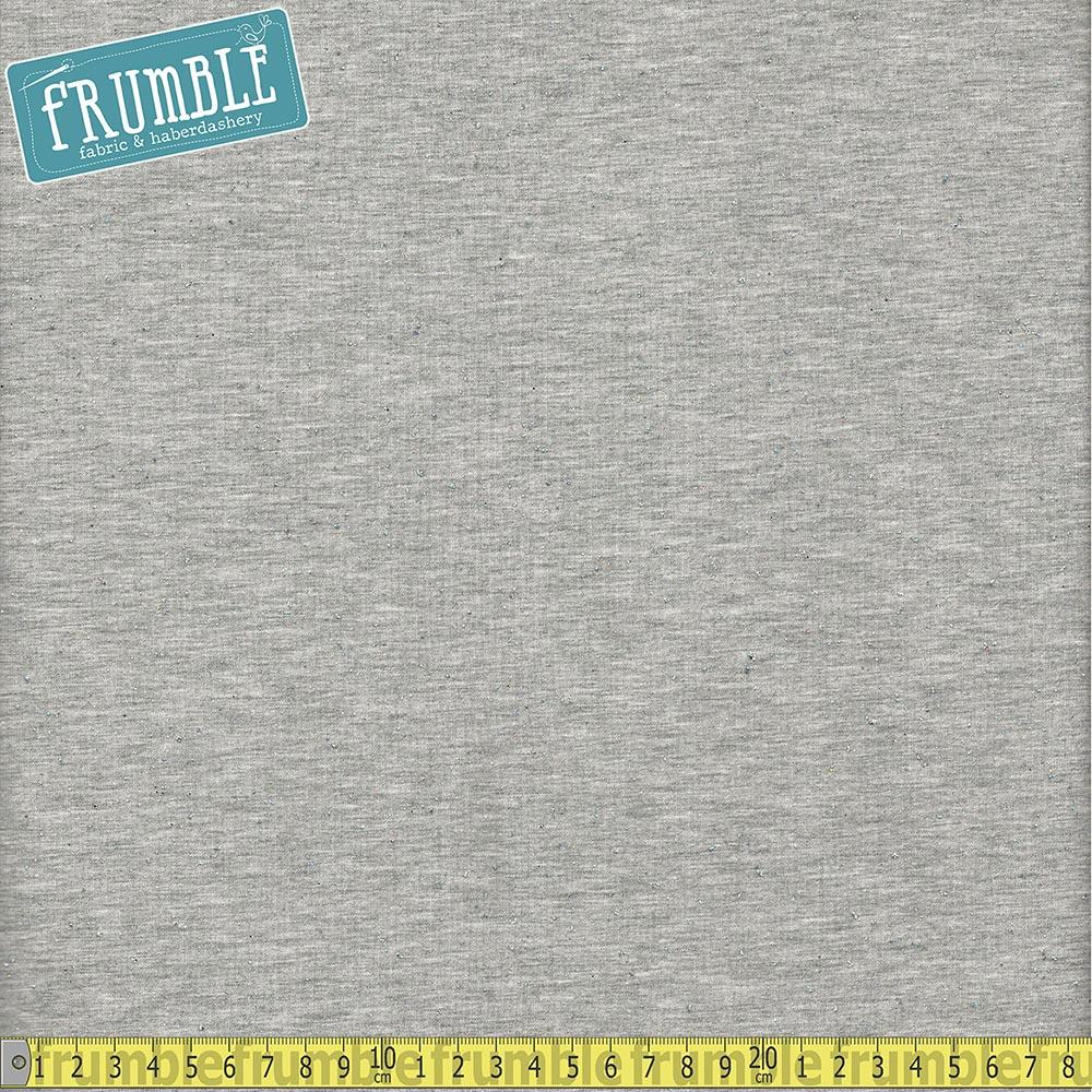 Speckled Glitter Light Grey Jersey Knit - Frumble Fabrics
