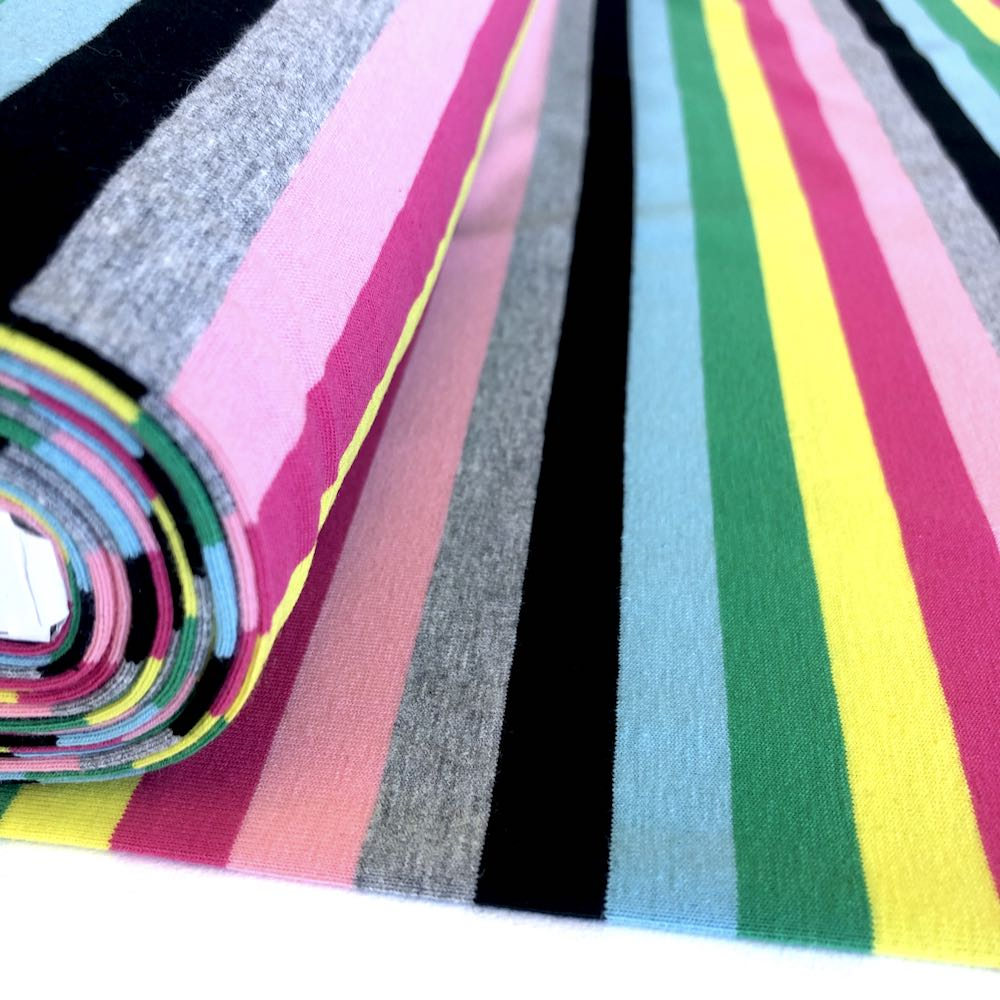 Sweetshop Rainbow Stripe Yarn Dyed Jersey - Frumble Fabrics