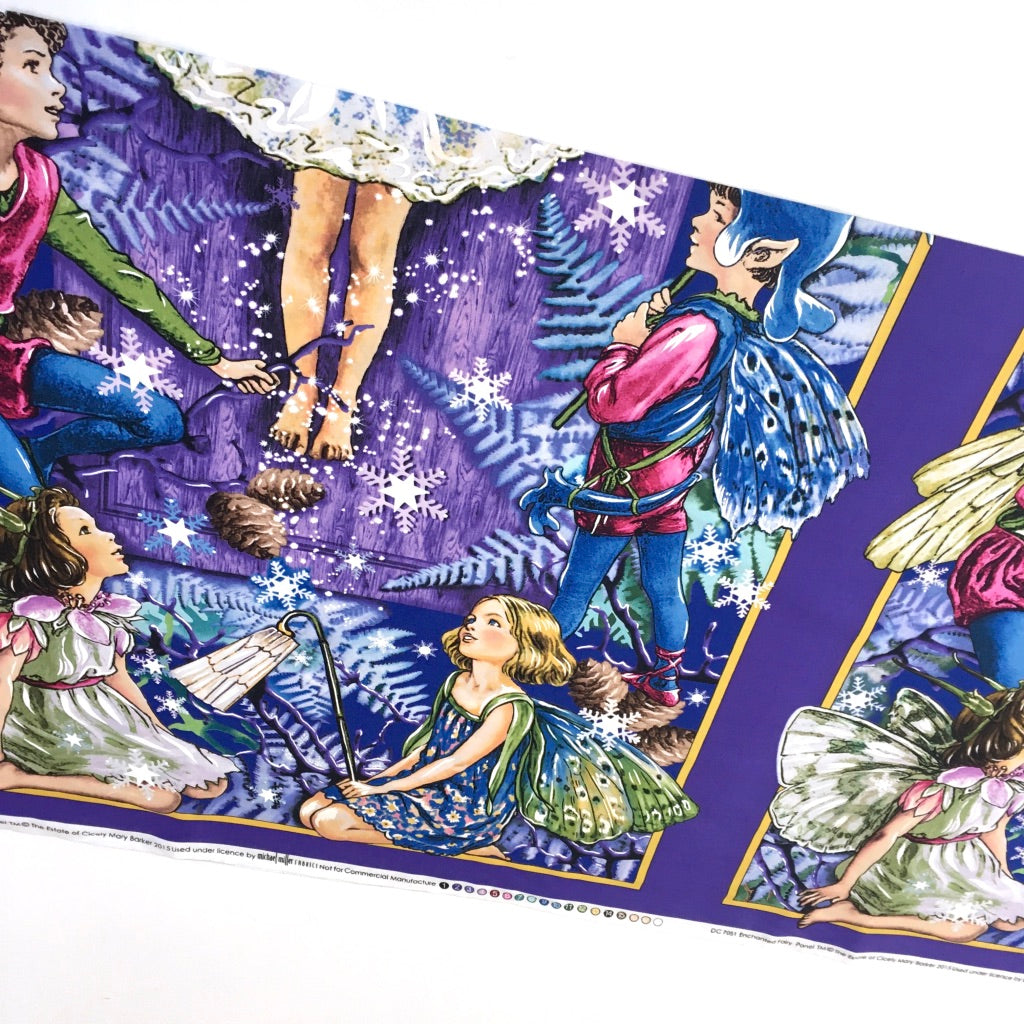 Enchanted Flower Fairies Panel Twilight - Frumble Fabrics