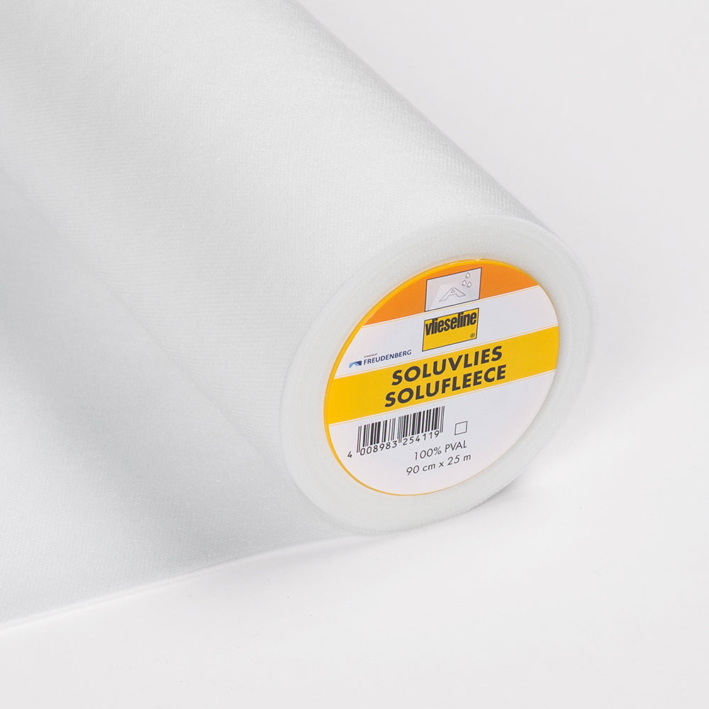 321 Solufleece Water-Soluble Embroidery Backing (Per Metre)