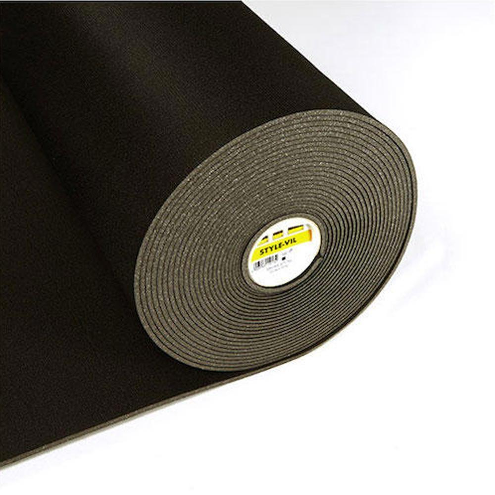 720 Style-Vil Black Smooth Foamed Sew In Interlining (Per Metre) - Frumble Fabrics