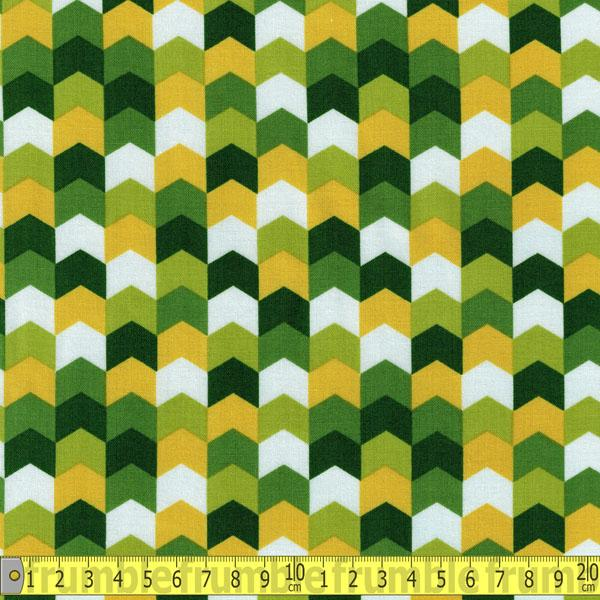 Kinetic Herringbone Green - Frumble Fabrics