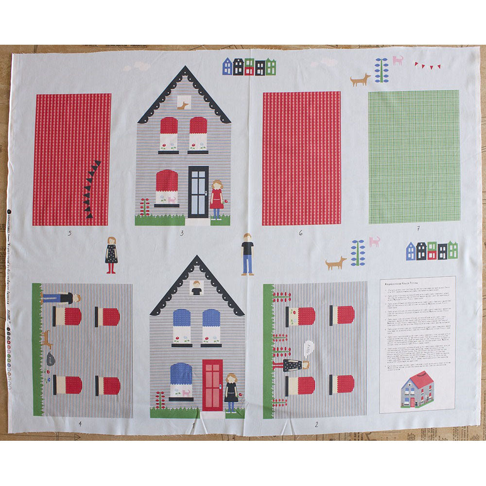 Neighbourhood House Kit 90cm Panel - Frumble Fabrics