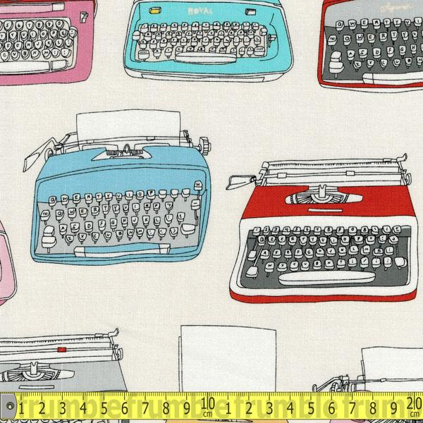 Type Main Typewriters Cream - Frumble Fabrics