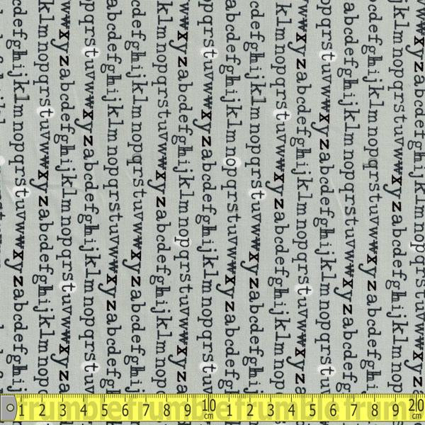 Type Typewriter Letters Grey Fabric by Windham