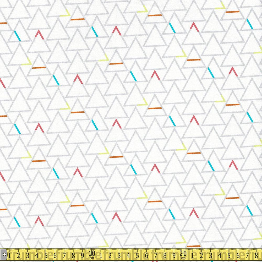 Windham Fabrics - Good Vibes Only - Pyramids White Sewing Fabric