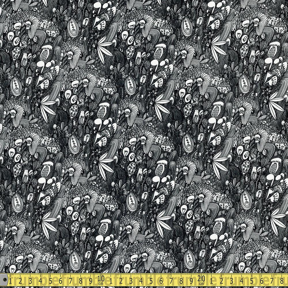 Windham Fabrics - Love The Earth - Packed Cactus Black Sewing Fabric