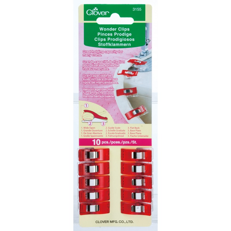 x10 Red Clover Wonder Clips - Frumble Fabrics