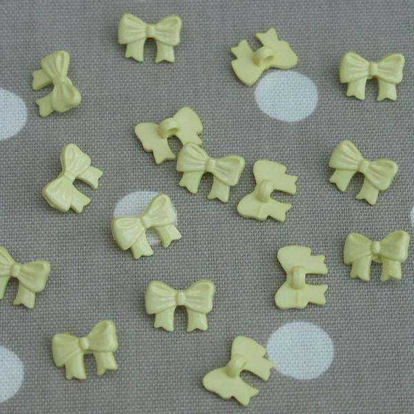 Bow Sewing Buttons - Yellow 10 pack