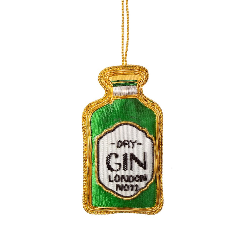 Gin Bottle Embroidery Decoration