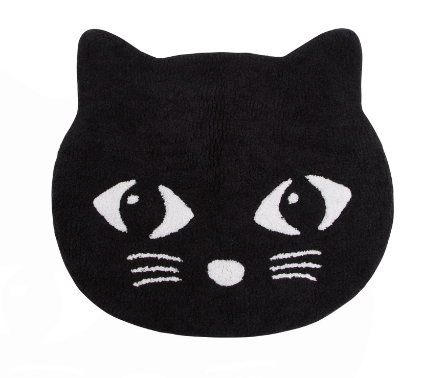 Black Cat Bath Mat