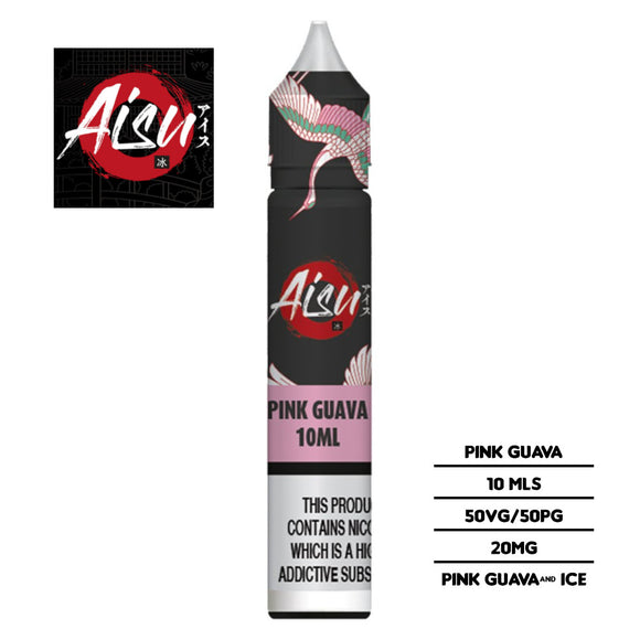 Aisu Salts Pink Guava 10ml 20mg Nicotine E-liquid