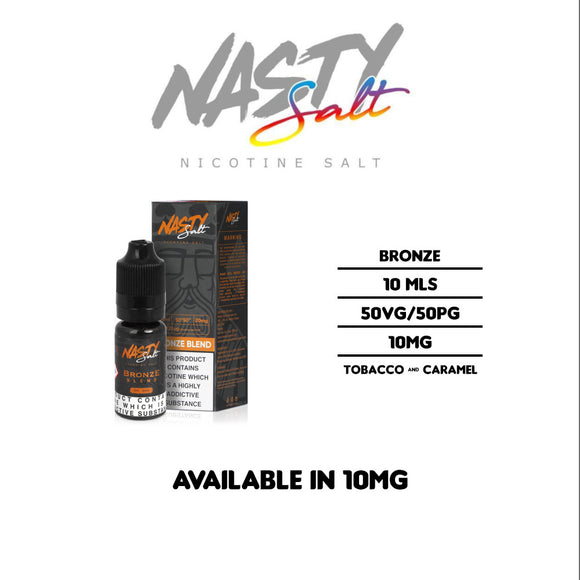 Nasty Juice - Bronze Blend - Nicotine Salt E Liquids 10ml