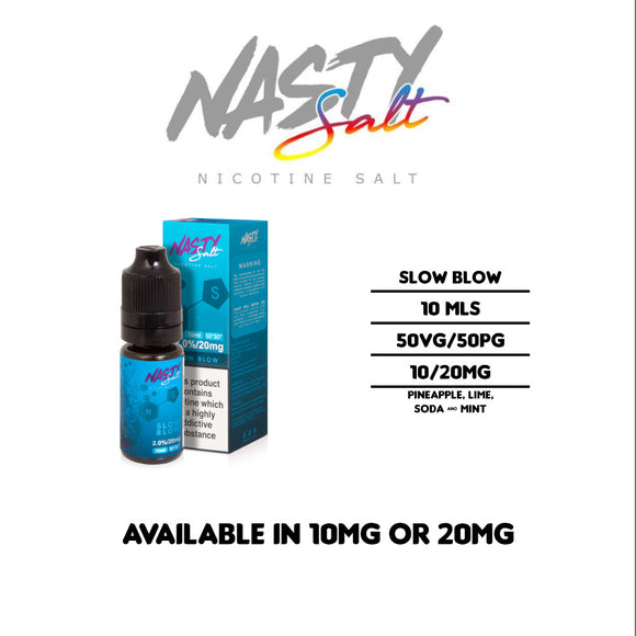 Nasty Juice - Slow Blow - Nicotine Salt E Liquids 10ml
