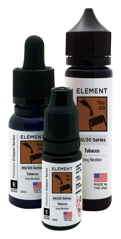 Element Dripper Series - Tobacco - Short Fill 100ml