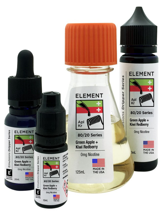 Element Emulsions - Green Apple & Kiwi Redberry - shortfill 100ml
