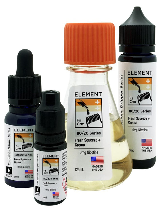 Element Emulsions - Fresh Squeeze & Crema - shortfill 100ml