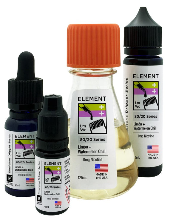 Element Emulsions - Limon & Watermelon Chill - shortfill 50ml