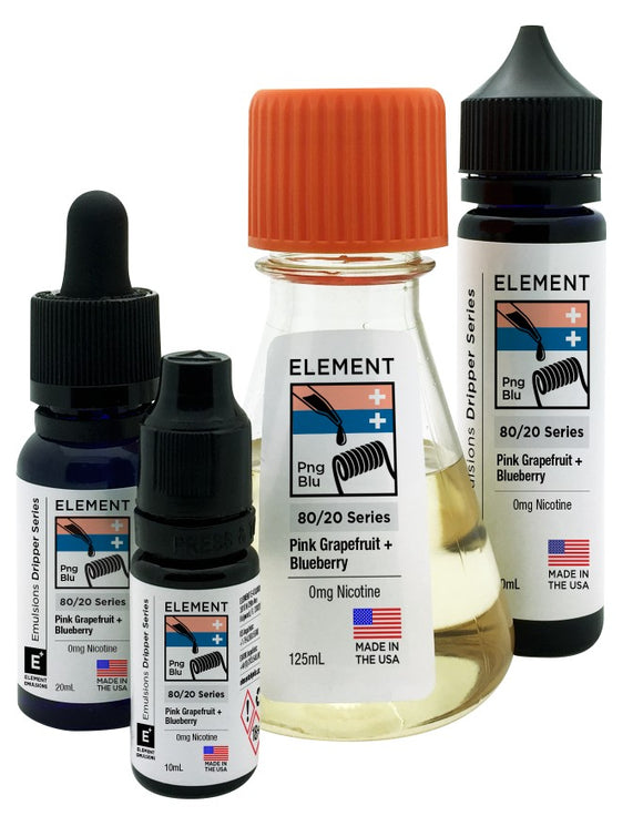 Element Emulsions - Pink Grapefruit & Blueberry - shortfill 100ml