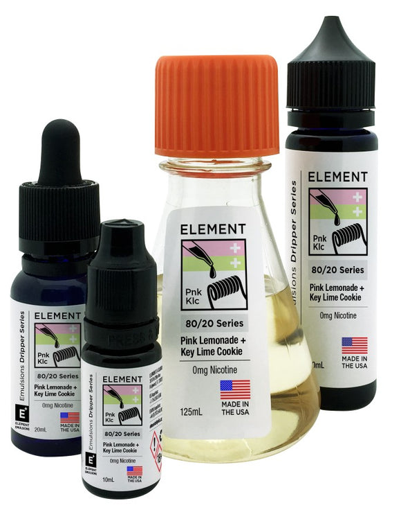 Element Emulsions - Pink Lemonade & Key Lime Cookie - shortfill 50ml