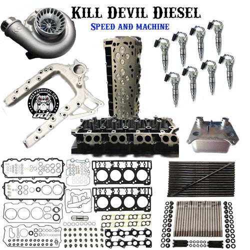KDD 6.0 Powerstroke Complete Stage 1 Top End Bundle w/Turbo and Injectors