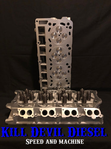 KDD Aluminum 6.0 Cylinder Heads, Pair- As Casted