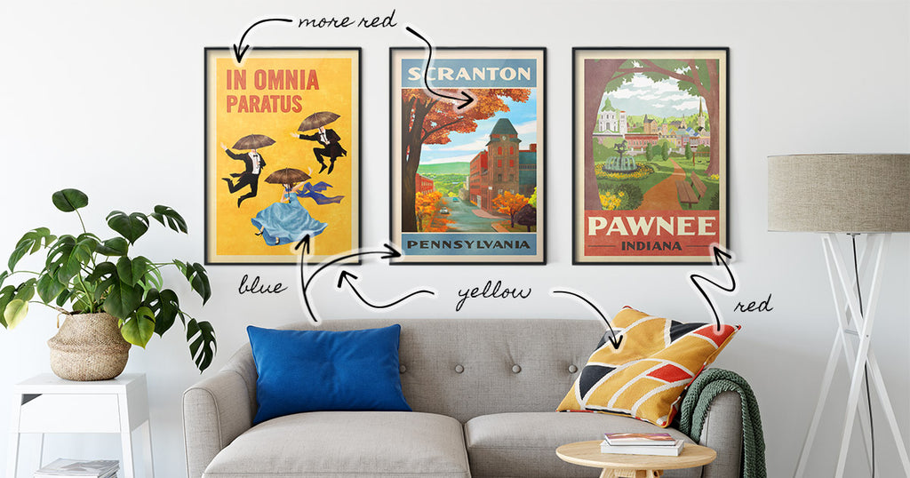 4 Easy Decorating Tips for Styling Posters from WindowShopGal