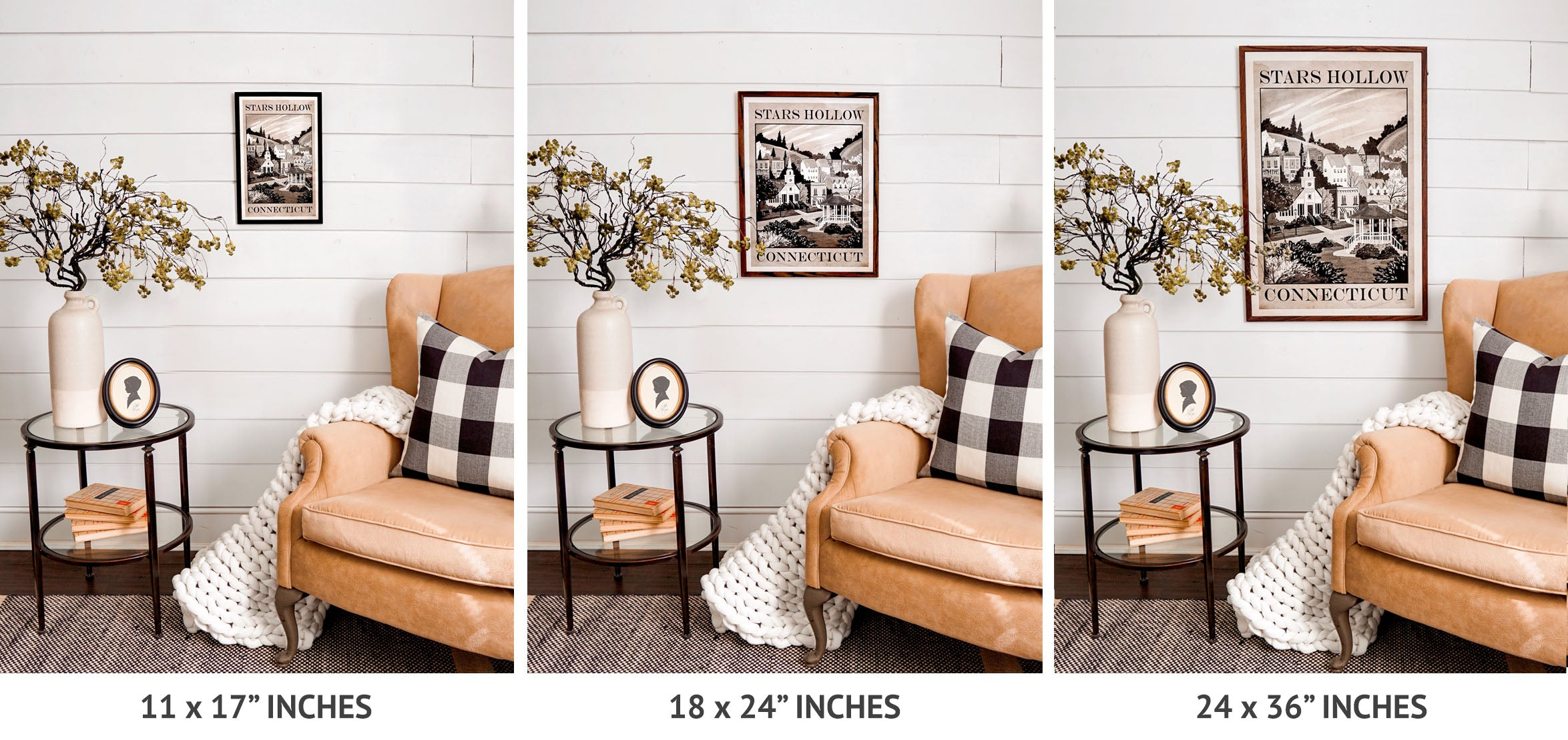 Window Shop Gal Poster Size Chart