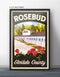 Rosebud Motel Elmdale County Retro Vintage Travel Poster