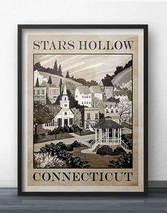 Stars Hollow Travel Poster - Heritage Edition