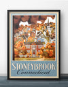 Stoneybrook Connecticut Retro Vintage Travel Poster