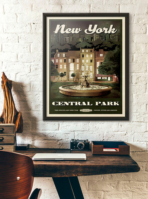 """I'll Be There For You"" New York Fountain Poster"