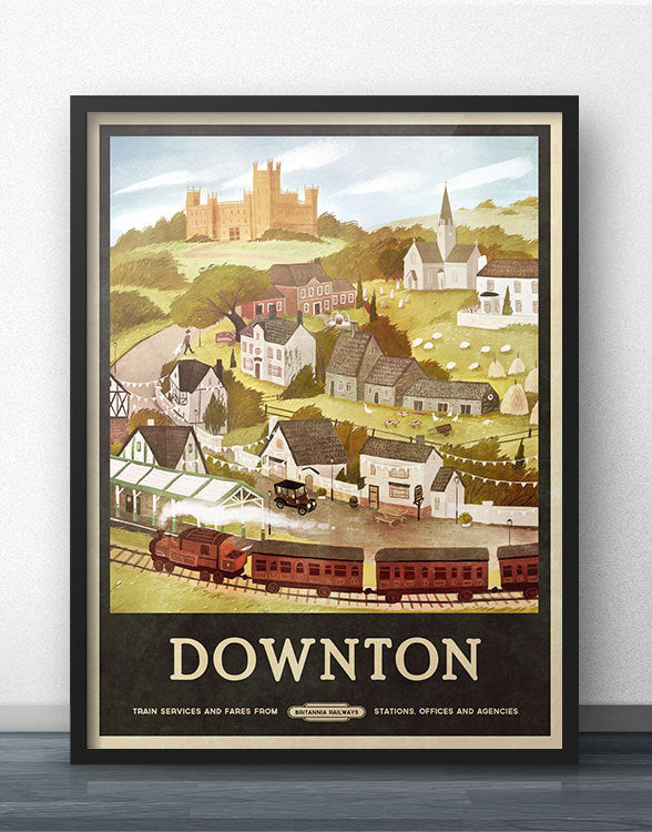 Downton Travel Poster
